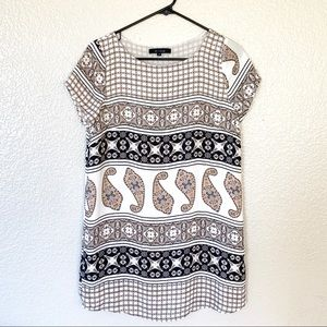 Olivaceous Paisley Mini Shift Tunic Dress S